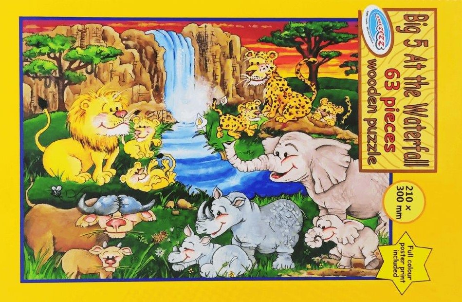 63 pc puzzle big five
