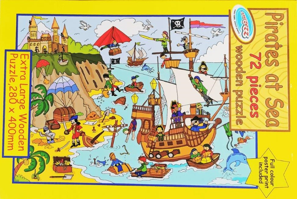 72 piece puzzle pirates