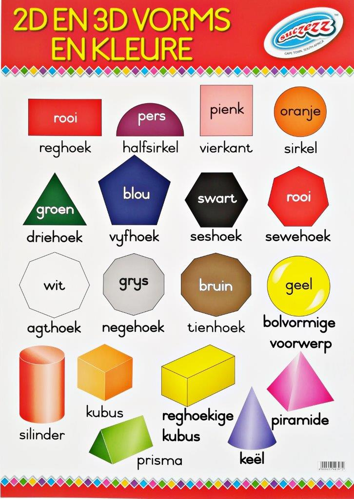 2D 3D vorms en kleure