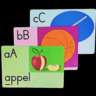 A4 cards alfabet