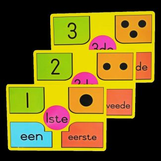 A4 cards nommers getalle