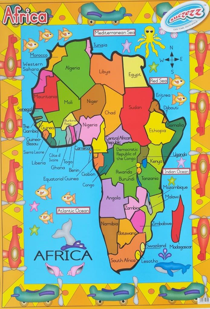 Africa poster wall chart