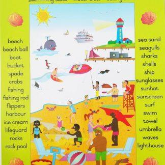 beach poster wall chart