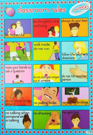classroom rules poster wall chart