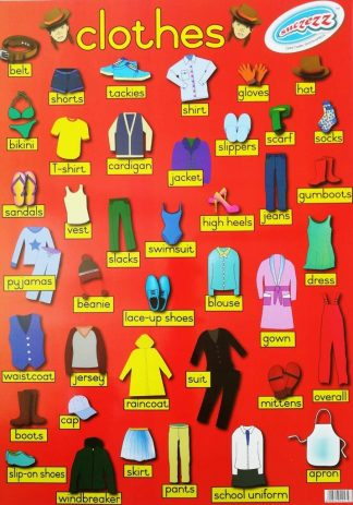 clothes poster wall chart