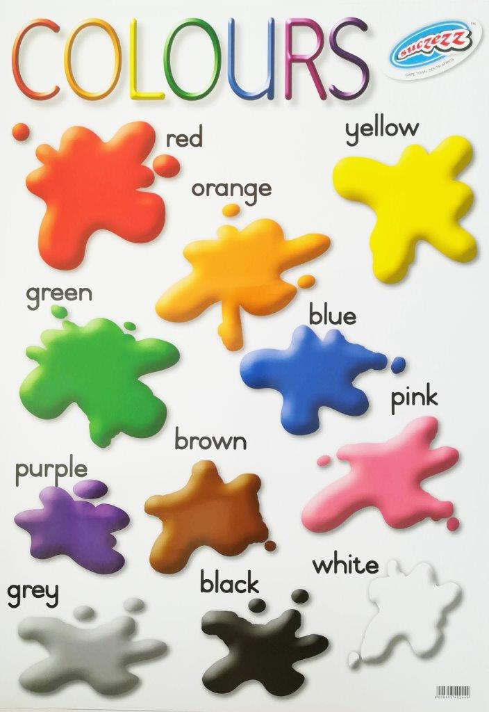 colours poster wall chart