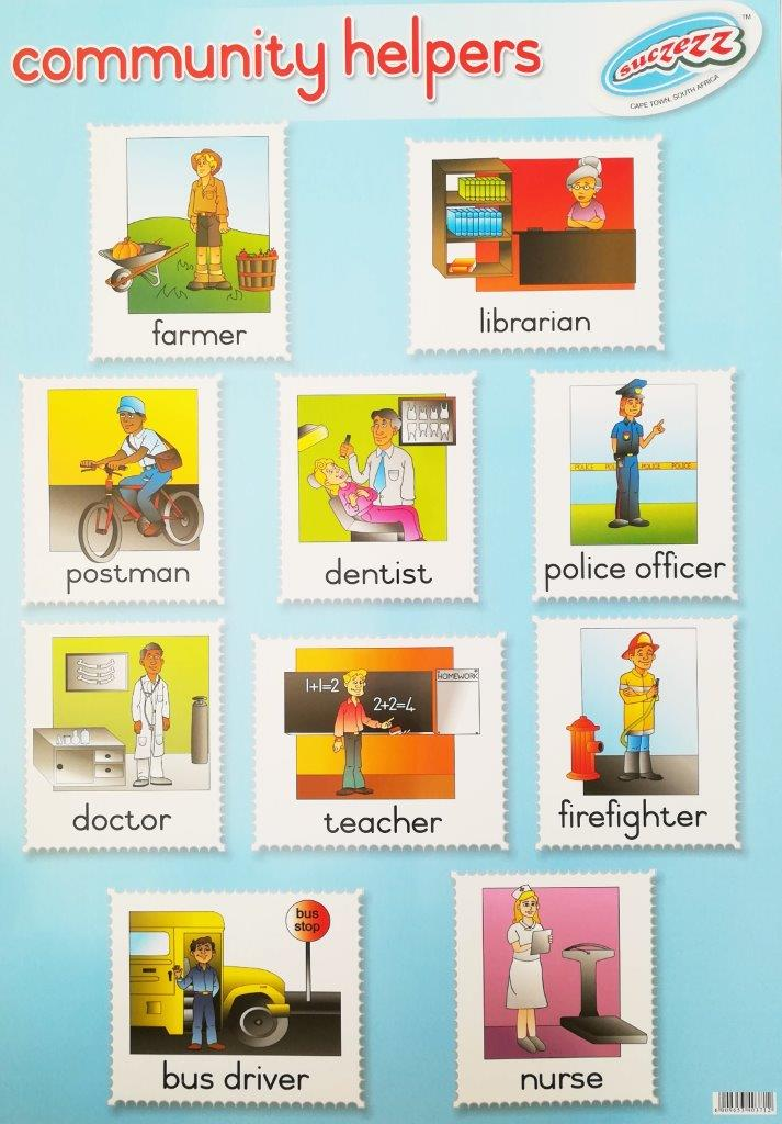 community workers poster wall chart