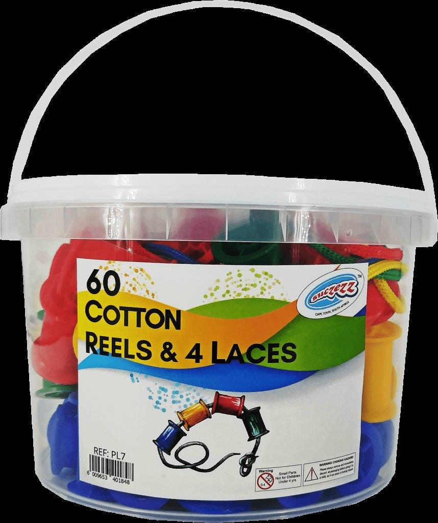 60 cotton reels and laces