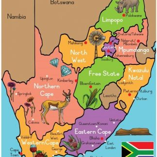 South Africa poster wall chart