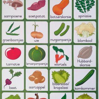groente plakkaat muurkaart