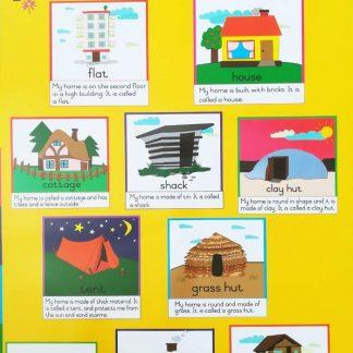 homes poster wall chart