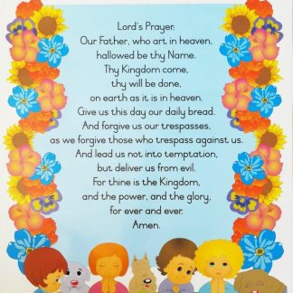 Lord's prayer poster wall chart