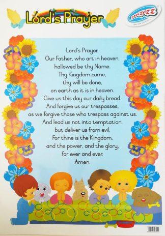 Lord's prayer poster wall chart