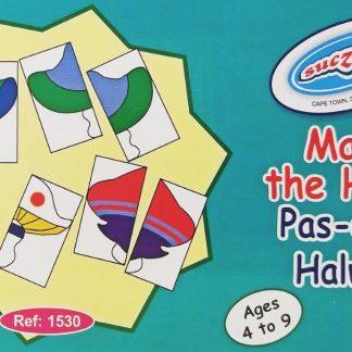 match the halves pas die halwes