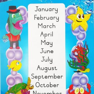 months of the year poster wall chart