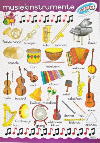 musiek instrumente plakkaat