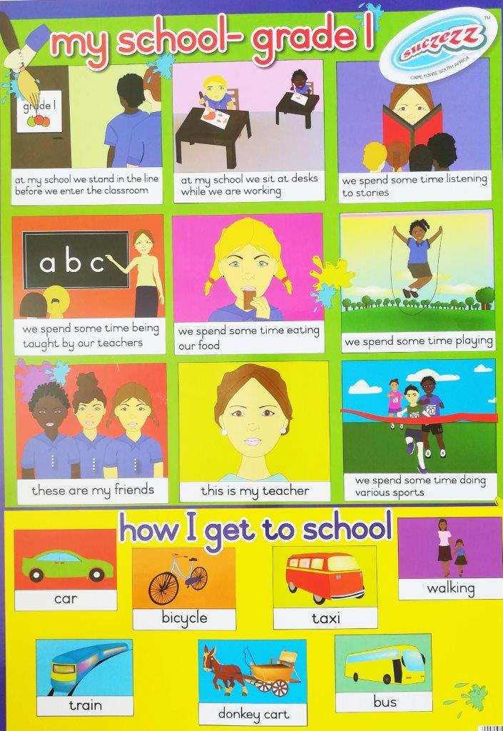 my school grade 1 poster wall chart