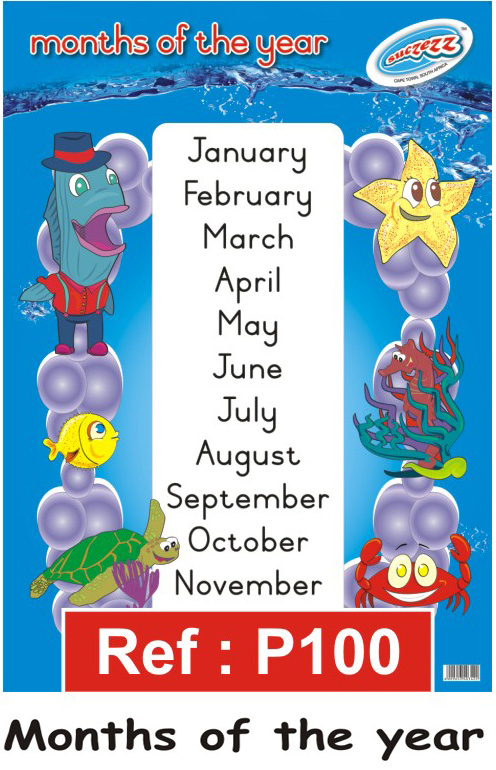 months of the year poster for the school and classroom