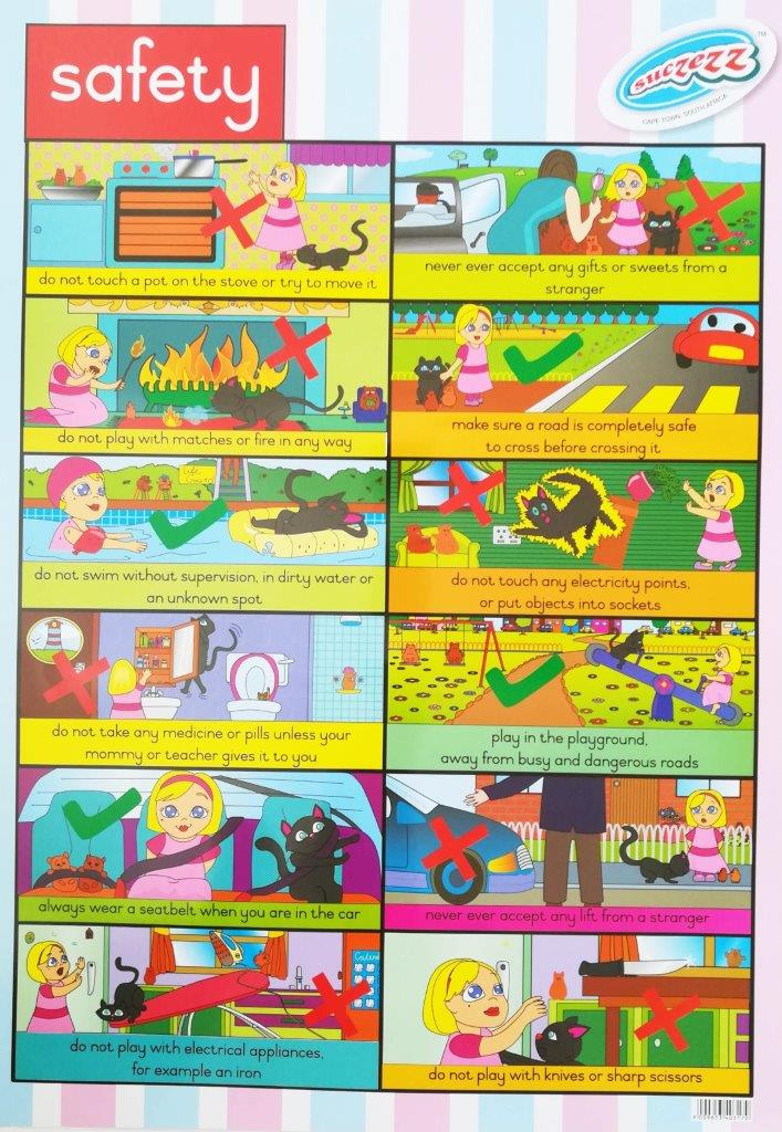 safety poster wall chart