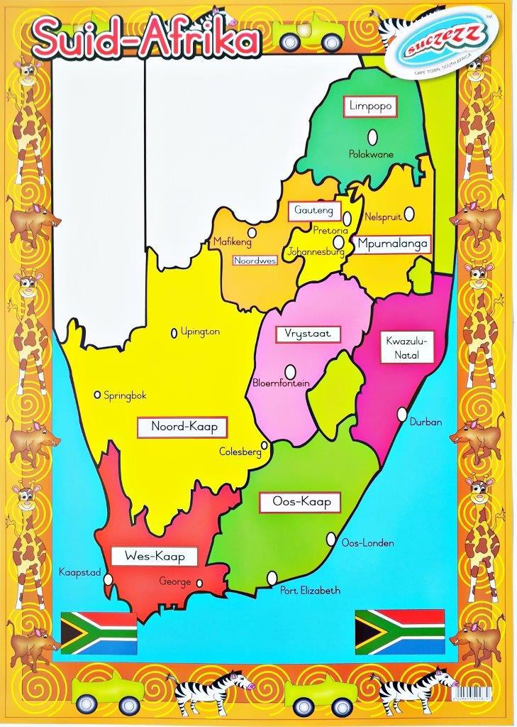 suid afrika provinsies plakkaat
