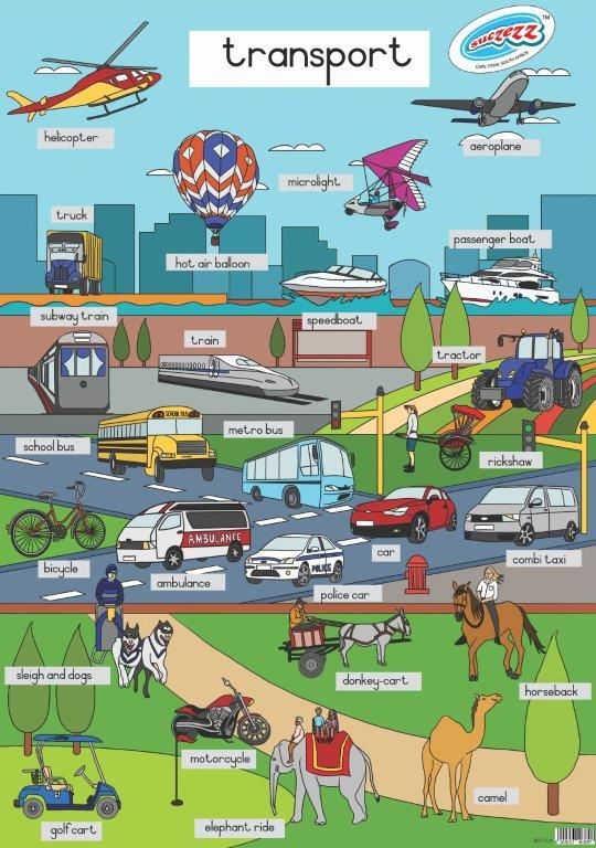 transport poster wall chart