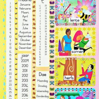 weer en datums plakkaat