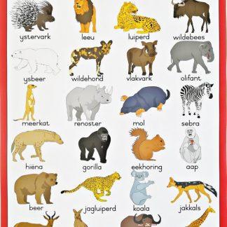 wilde diere plakkaat