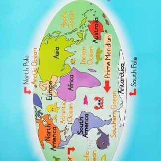 world map poster wall chart