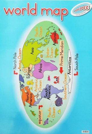 world map poster wall chart