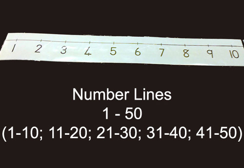 Number lines 1-50