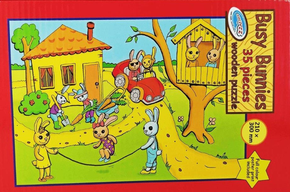 35 pc bunnies puzzle