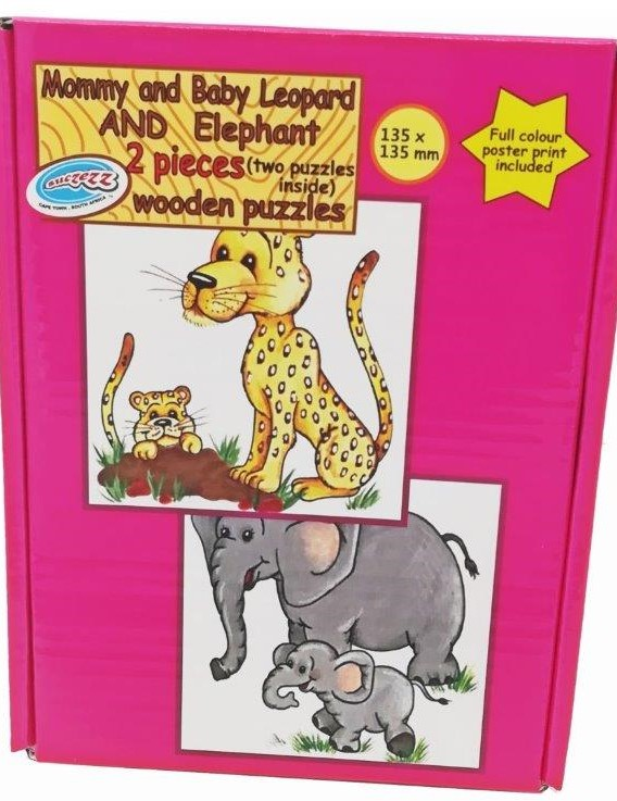 elephant and leopard 2 pc