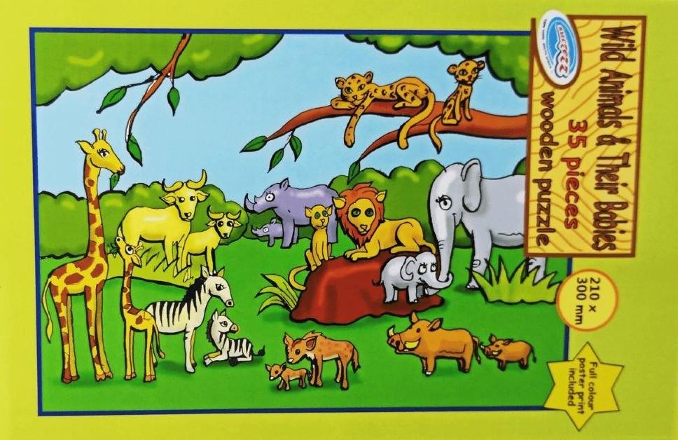 35 pc animals puzzle
