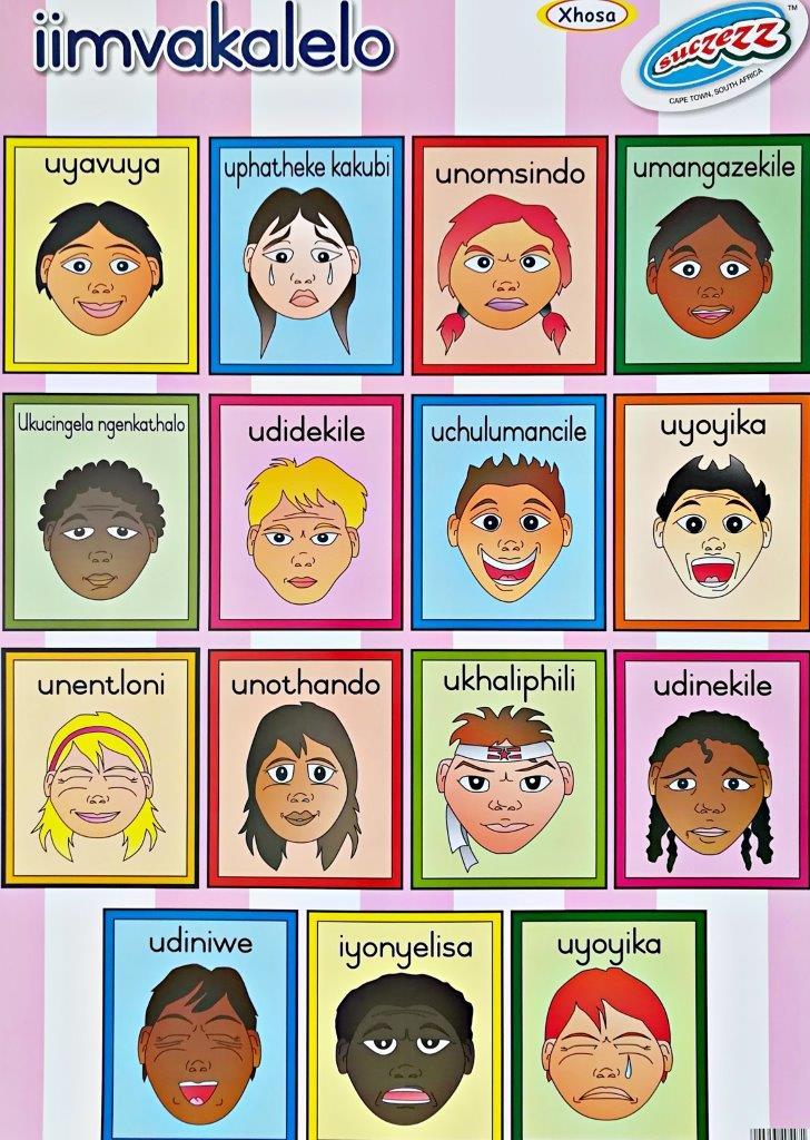 xhosa feelings emotions poster