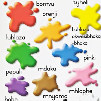 xhosa colours poster wall chart