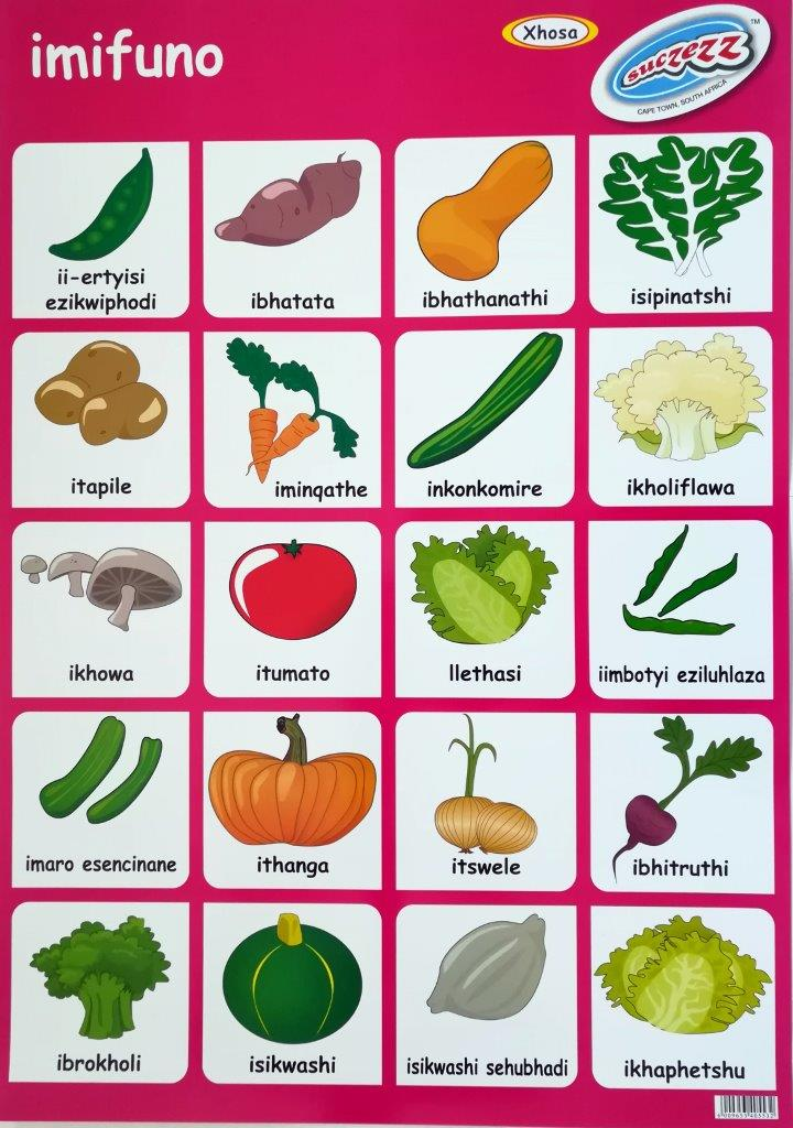 xhosa vegetables poster wall chart