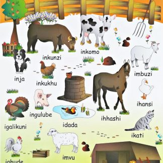 farm animals zulu poster