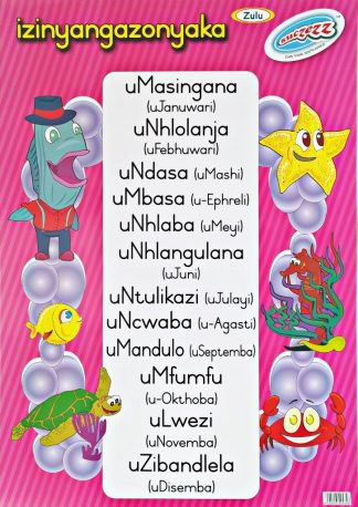 months of the year zulu poster