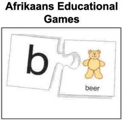Opvoedkundige speletjies / speelgoed - Afrikaans