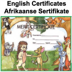 Certificates - English & Afrikaans