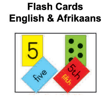 Flash cards - English & Afrikaans