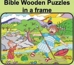 Wooden Bible Puzzles in a Frame
