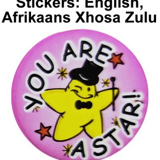 Stickers - English, Afrikaans, Xhosa, Zulu