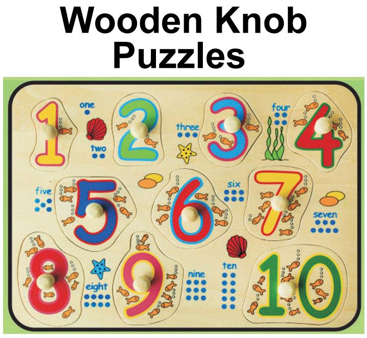 Wooden Knob Puzzles