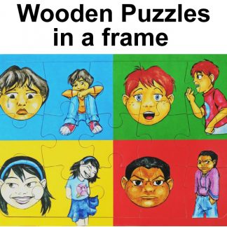 Wooden Puzzles in a Frame